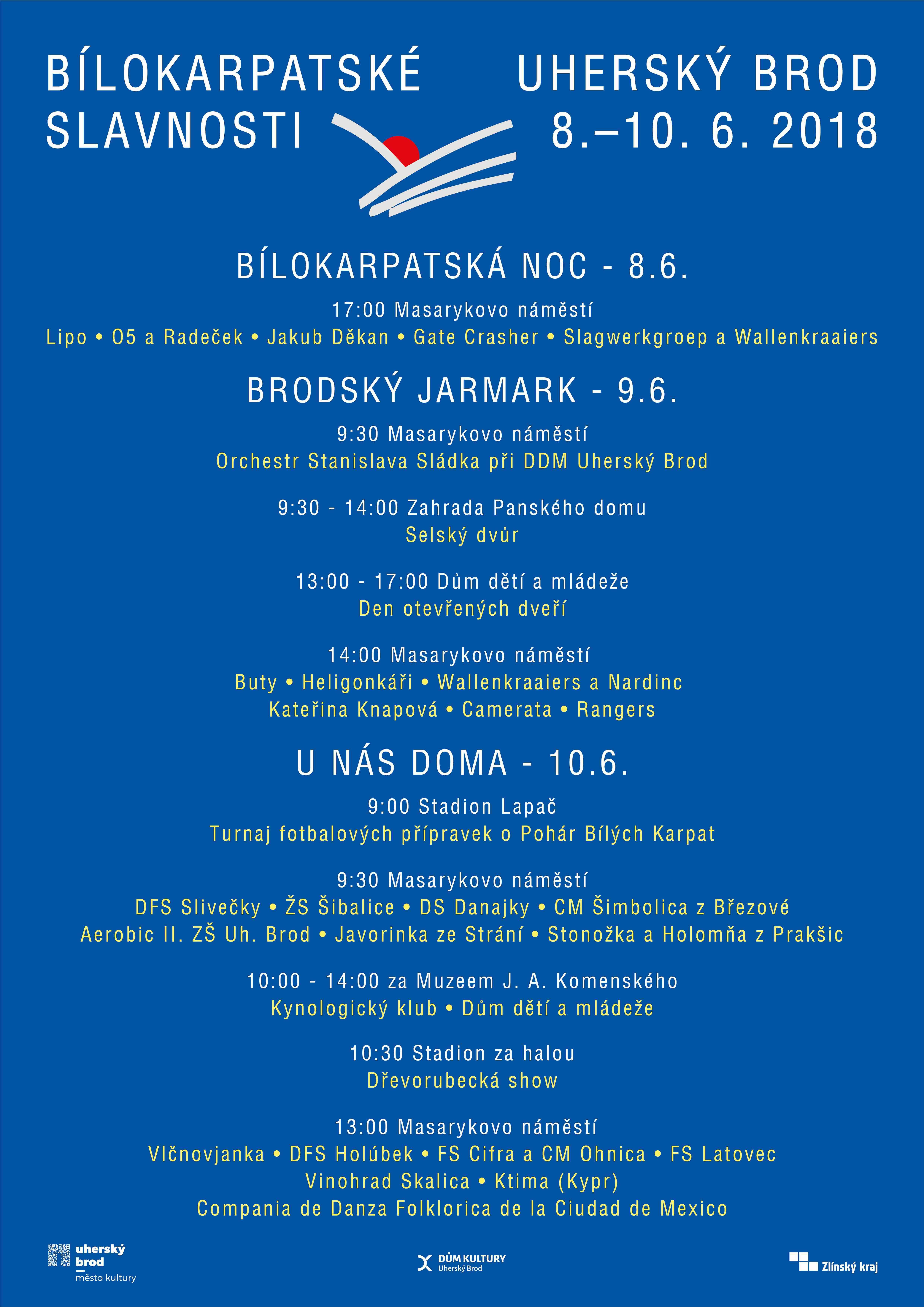 Bílokarpatské slavnosti Uherský Brod 2018